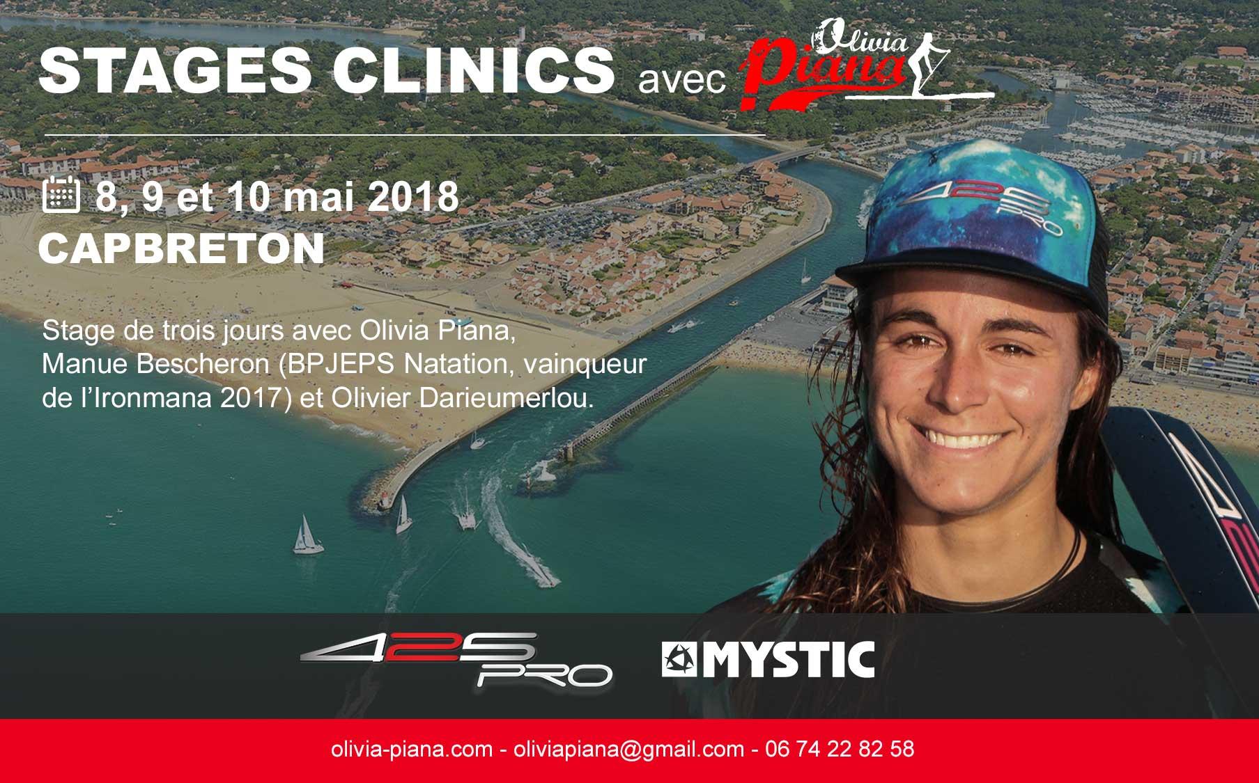 Stage & clinic à Capbreton les 8, 9 et 10 mai 2018