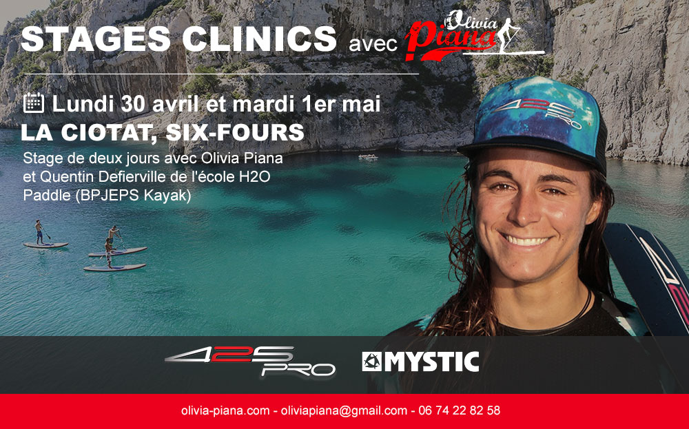 Stage & clinic La Ciotat Six Fours 30 avril et 1er mai 2018