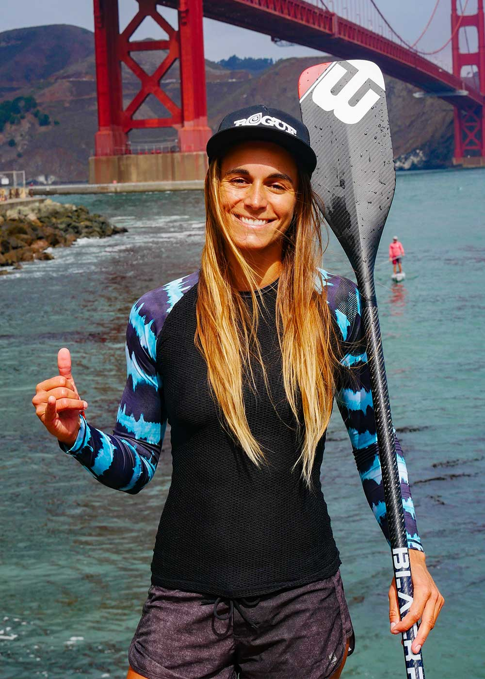 Olivia Piana stand up paddle race