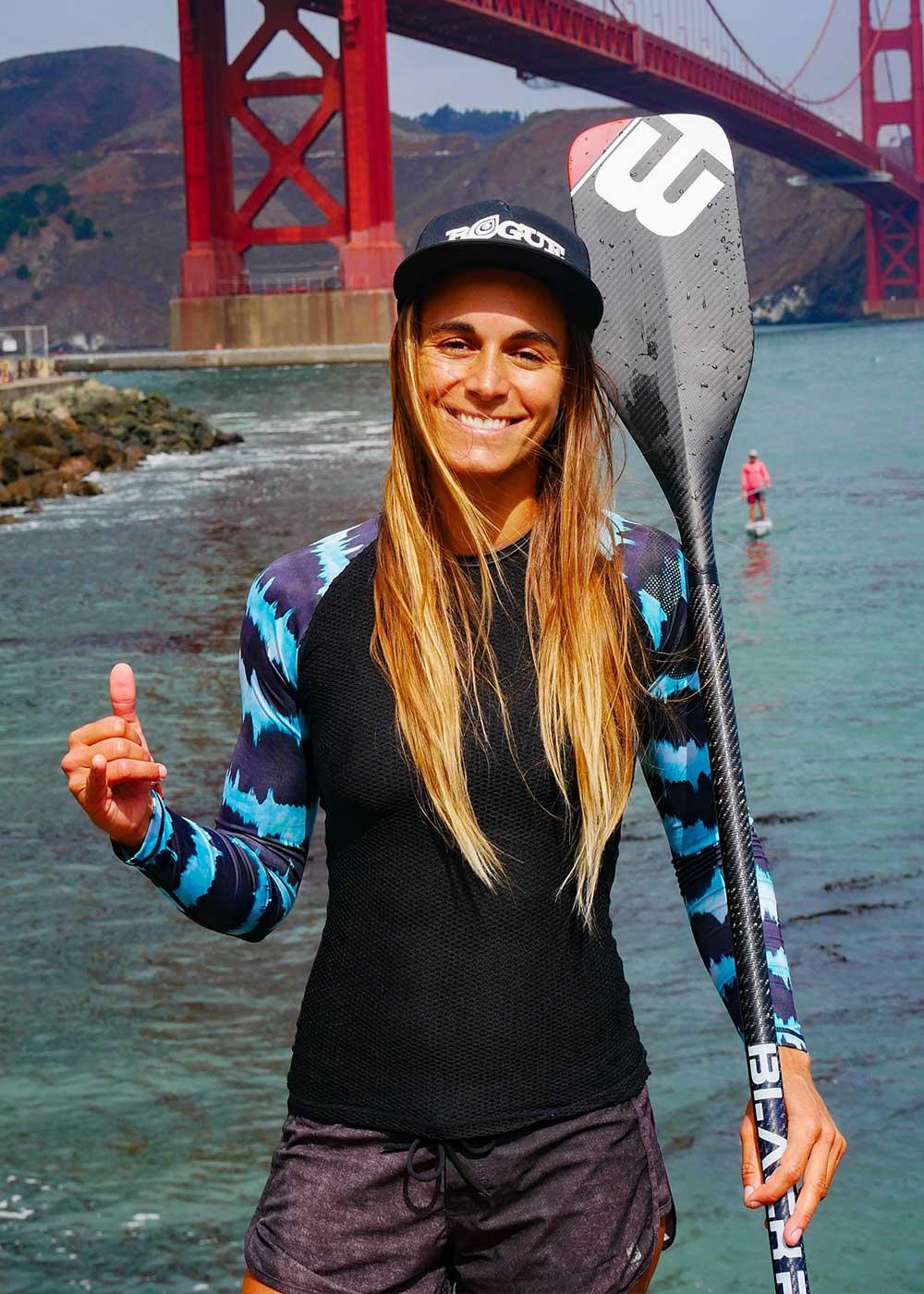 Olivia Piana stand up paddle race